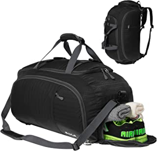 3-Way Gym Sport Bag Travel Duffel Bag Backpack with Shoe Compartment