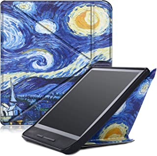 Gylint Kobo Forma 8 inches Case, Premium Leather Business Slim Folding Stand Folio Cover with Auto Wake/Sleep Multiple Viewing Angles for Kobo Forma 8'' 2018 Tablet (Star Night)
