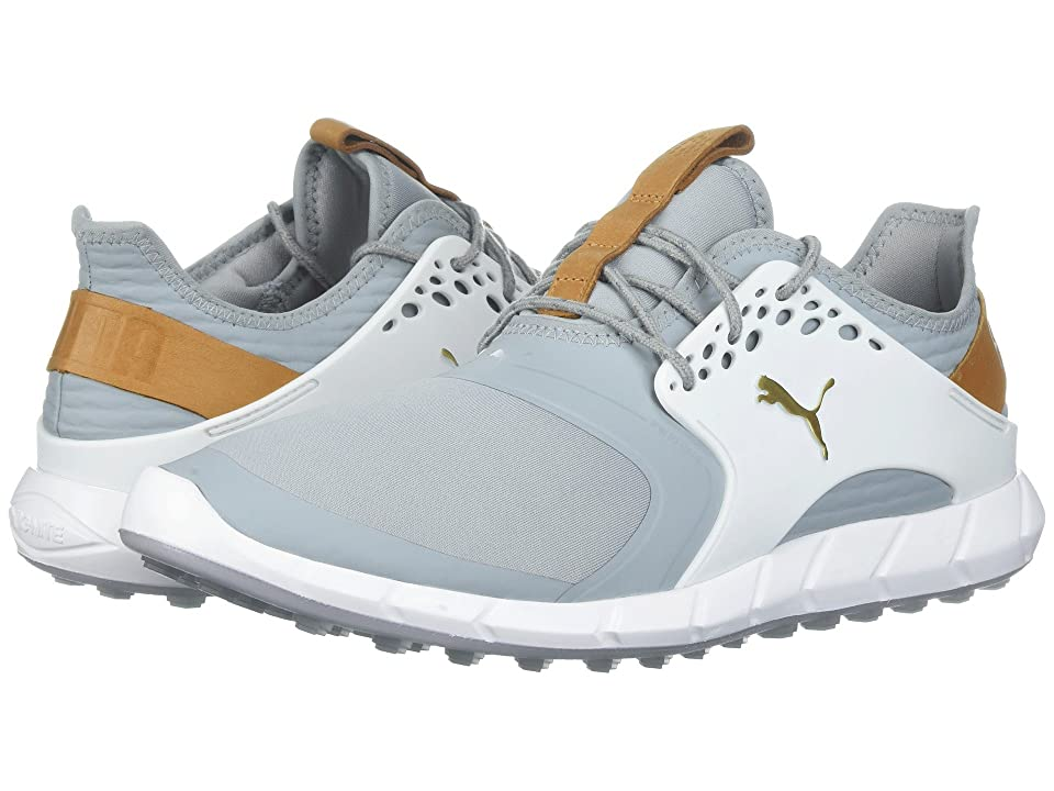 PUMA Golf Ignite Power Sport (Quarry/Puma Team Gold/Puma White) Men