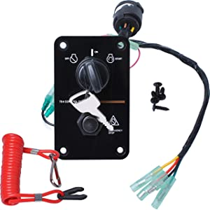 Wadoy 704-82570-08-00 Single Engine Key Switch Panel Compatible with 12V Outboard Yacht Switch Panel 704-82570-11-00 704-82570-12-00