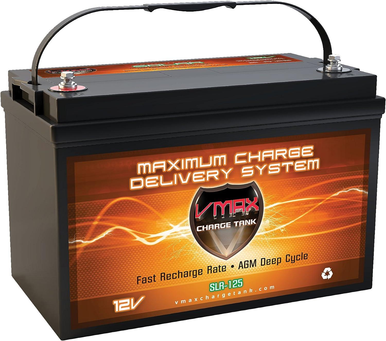 VMAX SLR125 AGM Battery 12V Miami Mall Industry No. 1 Compa Cycle Deep 125Ah Solar