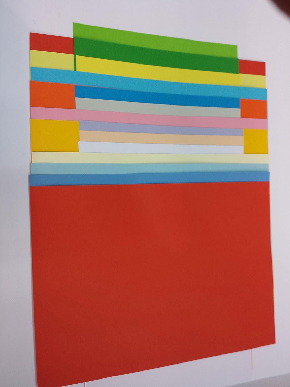 Tonkarton - Tonpapier - Tonzeichenpapier - 90 Blatt DIN A2-160g m² Farbe  je Farbe 5 Blatt B01M6YYENV | Elegantes Aussehen