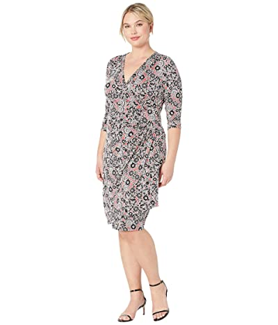 Kiyonna Ciara Cinch Dress (Stencil Floral Print) Women