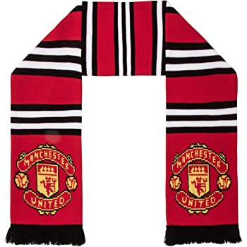 Amazon Com Manchester United Fc Authentic Epl Stripe Scarf Uk Import Clothing