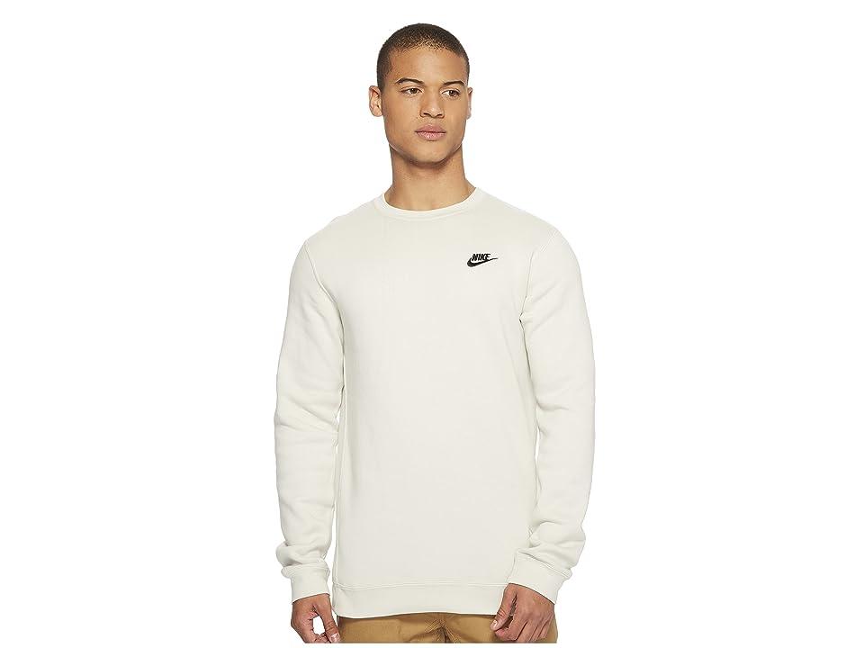 Nike Club Fleece Pullover Crew (Light Bone/Black) Men