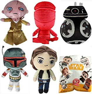 Solo Mystery Minis Plushies Blind Bag Battle W/ Galactic Plushies Star Wars: Boba Fett & First Order BB Unit Droid & Supreme Leader & Han Solo & Exclusive Collectible Praetorian Guard (6 Plush Set)