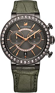 Swarovski Crystal Citra Sphere Gunmetal Tone Watch