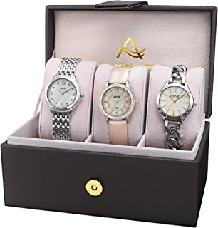 August Steiner Women's Quartz Watch, Analog Display and Stainless Steel Strap As8241Ss-S