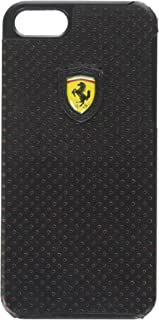 CG Mobile Ferrari Leather Snap-on Case for Your iPhone 5/5s (Black & Red)