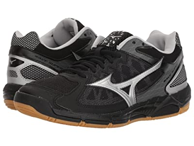 Mizuno Wave Supersonic (Black/Silver) Women