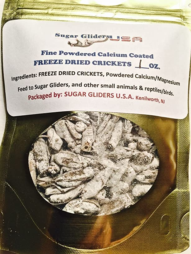SMALL ANIMAL/REPTILE DRIED CRICKETS WITH CALCIUM COATING 3 OZ