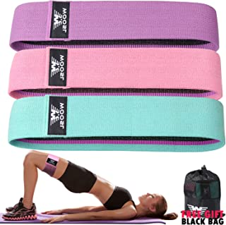 Walito Resistance Bands for Legs and Butt,Exercise Bands Set Booty Bands Hip Bands Wide Workout Bands Sports Fitness Bands Resistance Loops Band Anti Slip Elastic