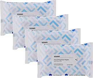 Amazon Brand - Solimo Hand Hygiene Wipes - 30 wipes/pack (Pack of 4)
