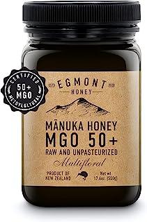 EGMONT HONEY Manuka Honey - MGO 50+ multifloral 17.6oz Original from New Zealand (500g)