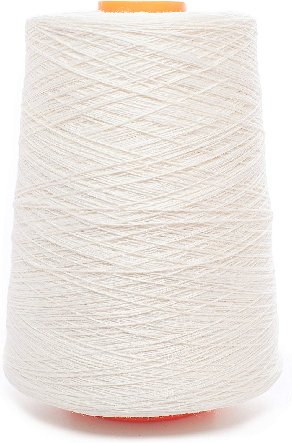 Linen Yarn Cone  100% Flax Linen  1 LBS  Bright White  3 PLY  Sewing Weaving Crochet Embroidering  3.000 Yard