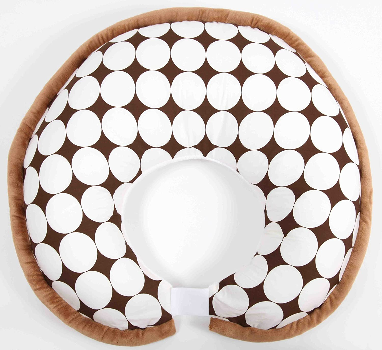 Dots White/Chocolate Pillow Cover Only