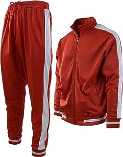 RRINSINS Mens Big and Tall Camo Elastic Waist Pants Sweatsuit Sweatshirts Tracksuit Set