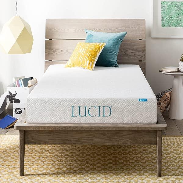 透明 8 英寸凝胶注入记忆泡沫床垫中号牢固手感证书美国认证 10 年保修双
