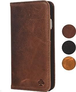 Porter Riley - Funda con Cartera para el Samsung Galaxy S7. Funda/Flip/Soporte en Cuero Genuino (marrón Chocolate)
