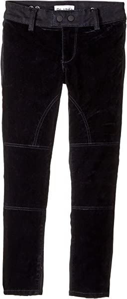 DL1961 Kids - Chloe Two-Tone Skinny Jeans in Blue Velvet (Big Kids)
