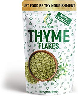 Iya Foods Thyme Flakes 1.10 oz Pack, Made from 100% Thyme Leaves. Thyme Leaf is a well-rounded herb that contains an earth...