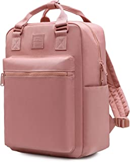 254s Backpack for Girls & Women, Minimalist Laptop Book Bag for Work, School, Travel, College, with 6 Pockets Inside, Old Rose