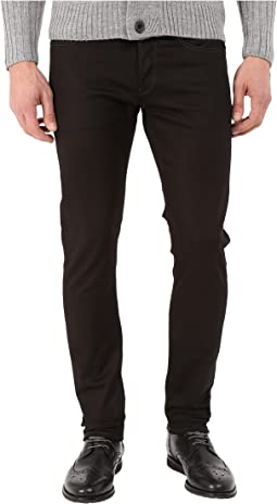 3301 Slim in Black Edington Stretch Denim Raw