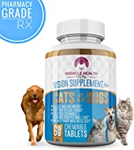 Miracle Health Vision Supplement for Dogs & Cats – Real Cranberries, Strong Amino Acids, Antioxidant Vitamin C & Grapeseed Extract for Canine & Feline Ocular Support – Dog & Cat Vitamins w/Herbs