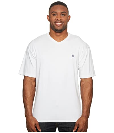 Polo Ralph Lauren Big & Tall Big and Tall Classic V-Neck T-Shirt (White) Men