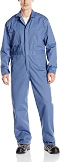 Men's Snap Front Cotton Coverall, Oversized Fit, Long Sleeve