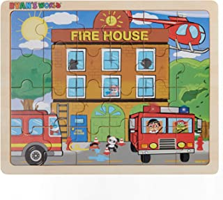 Ryan's World - Fire Rescue - 24 Piece Wooden Jigsaw Puzzle