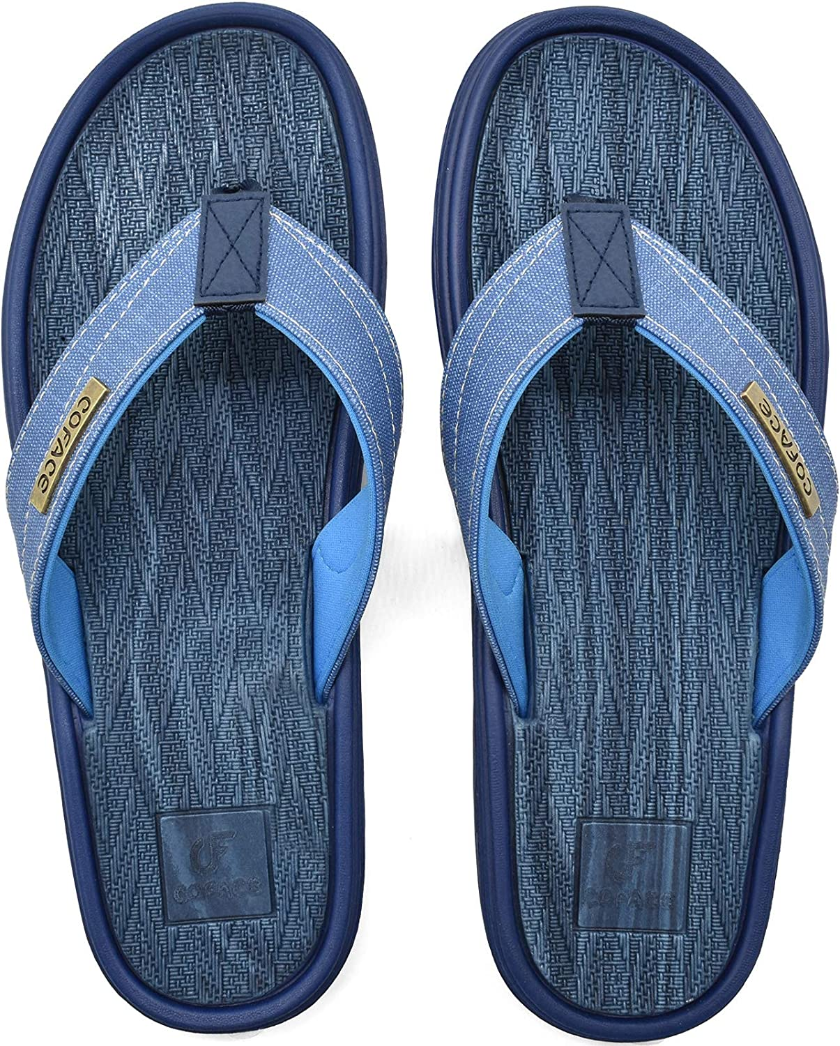 COFACE Mens Flip Flops Sport Beach Pool Thong Sandals Comfortable Slides Slippers Outdoor Holiday Summer Shower Shoes