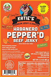 Habanero Pepper`d Beef Jerky-GLUTEN FREE - No Preservatives, Nitrites, or MSG