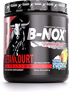 Betancourt Nutrition B-Nox Ripped Pre-Workout, Tropical Paradise, 8.7 oz