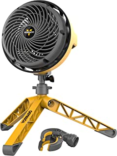Vornado EXO5 Heavy-Duty Shop Air Circulator Fan with High-Impact Housing, Collapsible Tripod Base, Clamp Attachment (Renewed)
