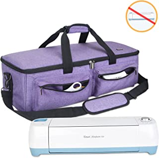 Luxja Carrying Bag Compatible with Cricut Explore Air and Maker, Tote Bag Compatible with Cricut Explore Air and Supplies (Bag Only), Purple