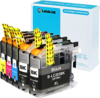5 Pack TOINKJET Compatible Replacement for Brother LC203 LC 203 XL LC201 Ink Cartridges for MFC-J460 MFC-J480DW MFC-J485DW MFC-J680DW MFC-J885DW J880DW MFC J5520DW J5620DW J5720DW J4420DW