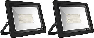 Hyperikon 200W LED Flood Light, 800-1000 Watt Equivalent Outdoor Security Light with Rotatable Bracket, 5000k, 110V, 2 Pack