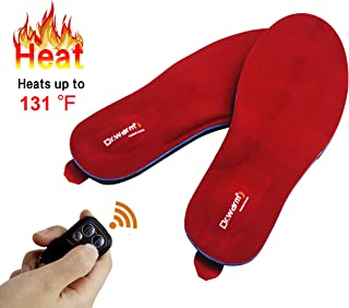 Dr.Warm Rechargeable Heated Insole with Remote Control Switch Wireless Foot Warmer for Hunting Fishing Hiking Camping Unisex