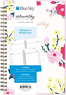 Blue Sky Noteworthy 2019 Weekly & Monthly Planner and Notebook, Flexible Cover, Twin-Wire Binding, 5