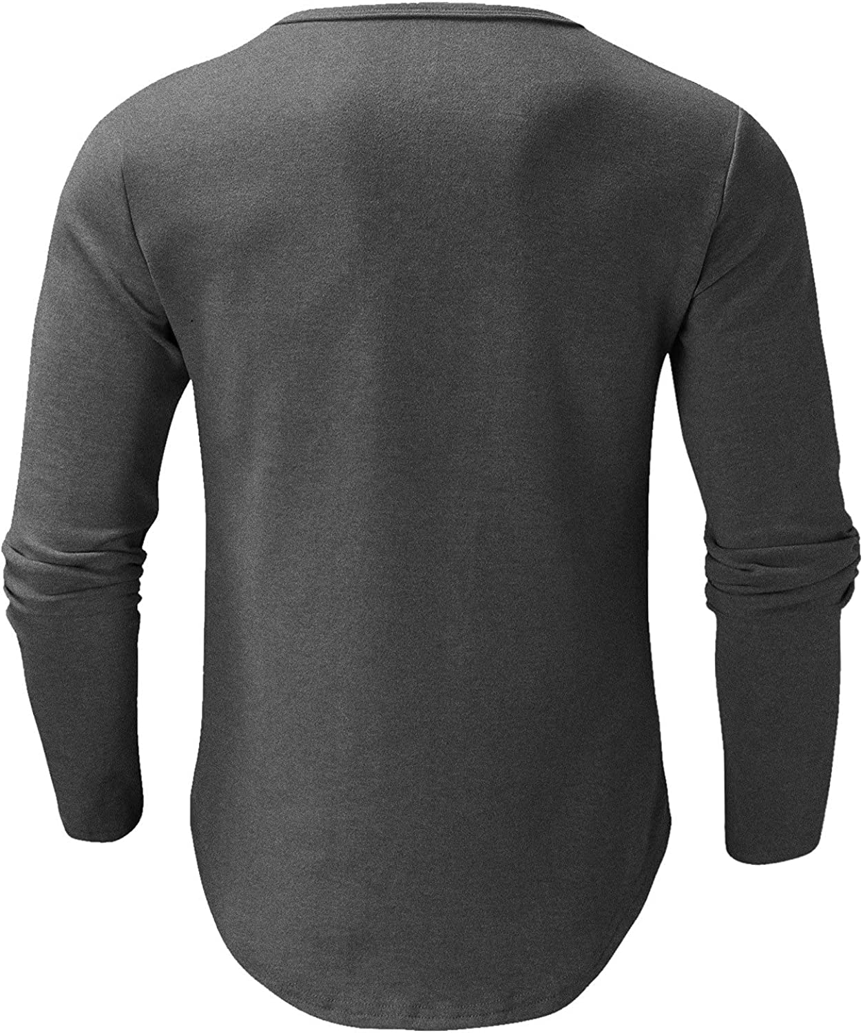Men's Autumn and Winter Casual Base Layer Shirt Solid Color Round Neck Long-Sleeved Shirt Cotton Sweaters Pullover