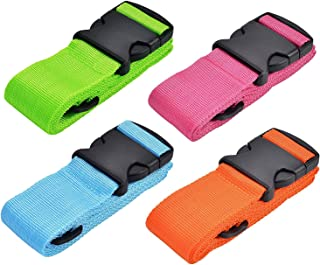 WISTOM 4Pack Luggage Straps Suitcase Belt Travel Accessories