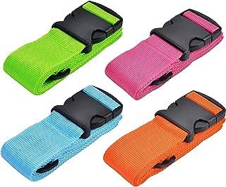 WISTOM 4Pack Luggage Straps Suitcase Belt Travel Accessories