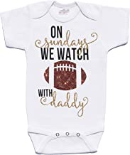 On Sundays We Watch Football With Daddy Cute Football Baby Onesie Cassidy's Closet (0-3 Months)