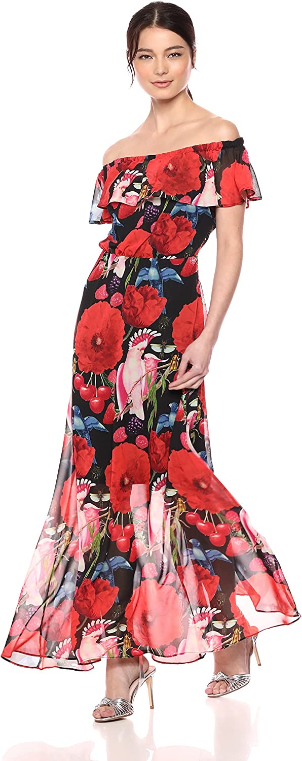 Betsey Johnson Womens Birds of Paradise Maxi Dress Casual Dress