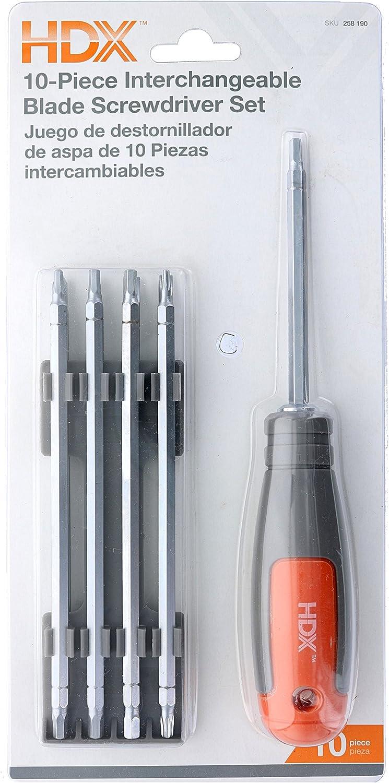 HDX Schraubendreher-Set, austauschbare Klingen, 10-teilig B00KQ8SGOI B00KQ8SGOI B00KQ8SGOI   Verschiedene Stile  9ebd0b