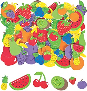 Fun Express Fabulous Foam Self-Adhesive Fruit Shape Stickers | Assorted Designs | 500 Count | Great for Art Class Giveaways, Party Favors and Decorations, Kids Party