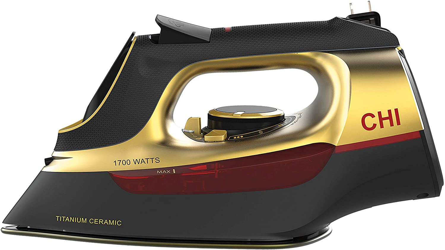 CHI Max 55% Ranking TOP4 OFF Steam Iron for Clothes Infused Titanium Ceramic Solepla with