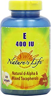Nature's Life Vitamin E, 400 IU   250 ct