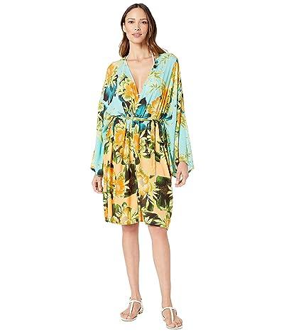 Lucky Brand Tropical Sunrise Kimono Cover-Up (Multi) Women